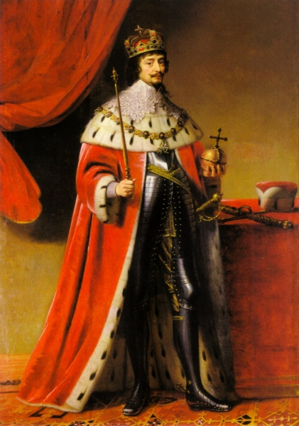 Friedrich V by Gerard van Honthorst, painted 2 years after Friedrich V's death