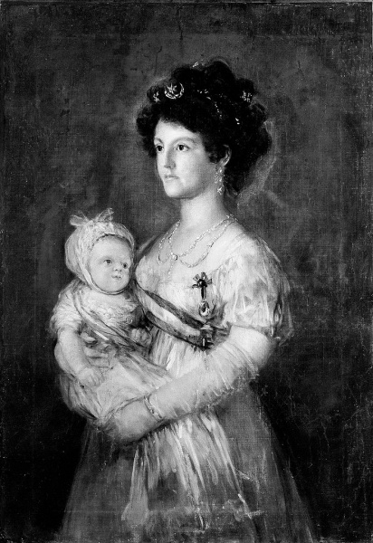 Maria Luisa with son Carlo by Francisco de Goya