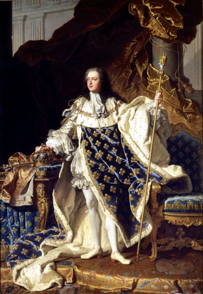 Louis XV by Hyacinthe Rigaud