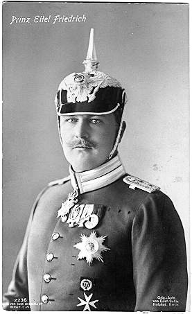 Eitel Friedrich as captain of the First Regiment of Foot Guards, Potsdam