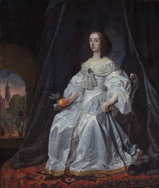 Mary by Bartholomeus van der Helst (background attributed to Johannes Lingelbach)