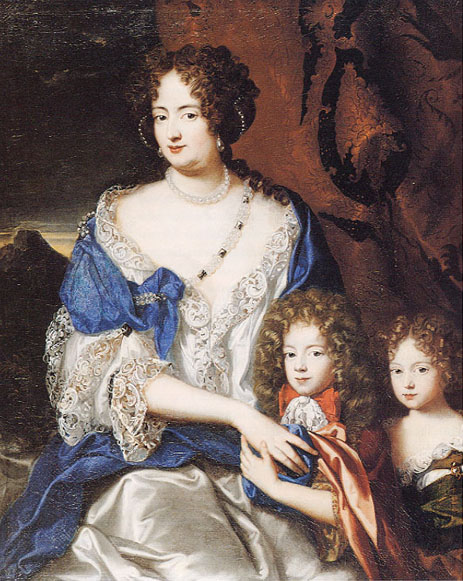 Sophie Dorothea with children George and Sophie by Jacques Vaillant